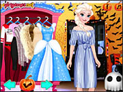 Anna and Elsa Halloween Night
